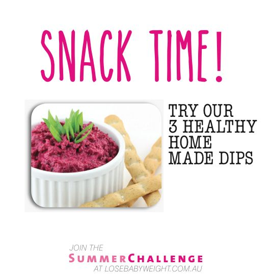 3 healthy dips -  spinach and ricotta sounds delish!