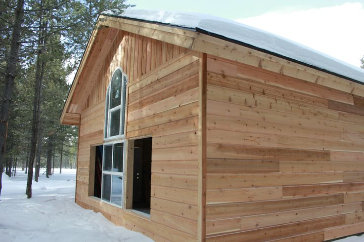 This is a 1x10 channel rustic cedar siding in this for Log house siding options