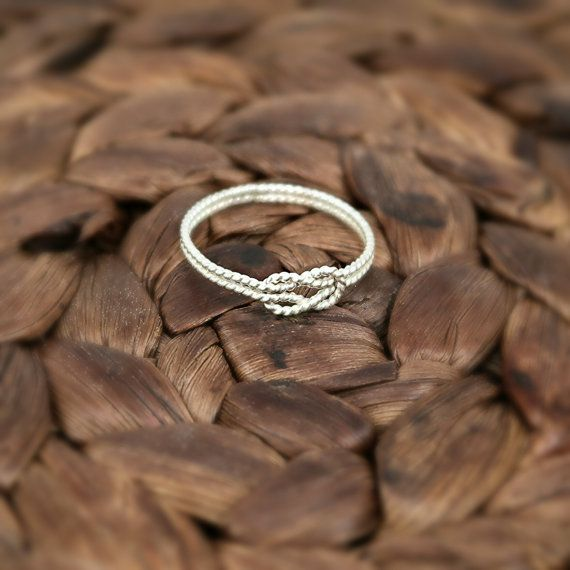 Sterling Silver Rope Love Knot Ring Celtic Style by JCLDesigns, $25.00