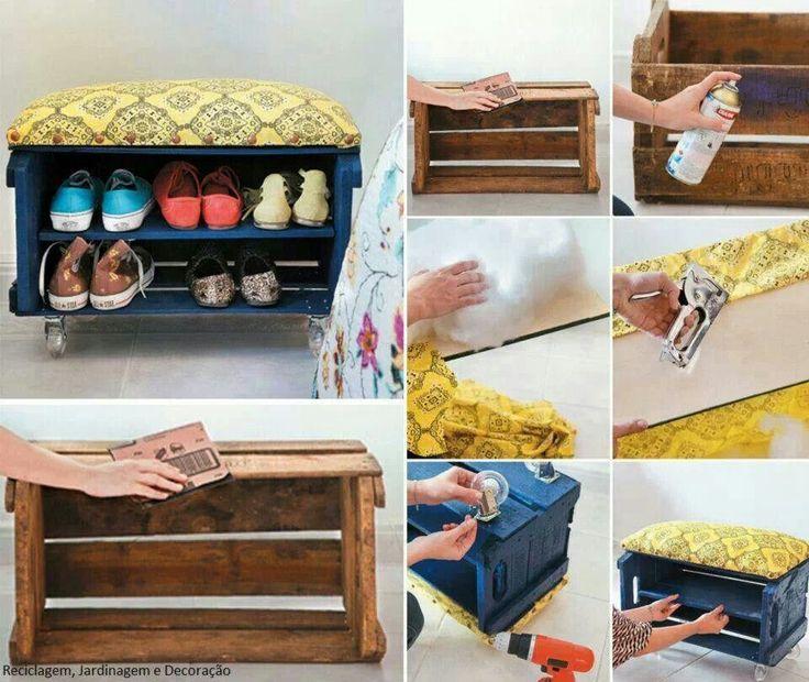 Como convertir una caja en un zapatero manualidades y - Como hacer un armario zapatero ...