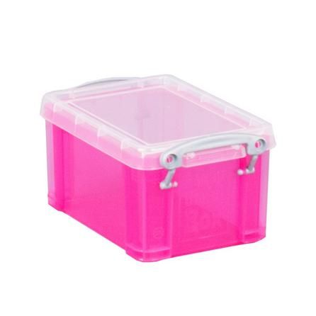 Dunelm Really Useful Small Pink Storage Box
