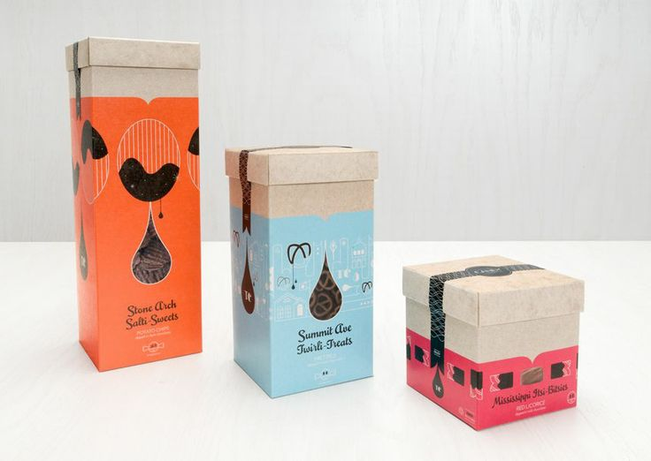The Twin Cities Candy Company develops high-end food products for corporate gifts and boutique shops, with eye-catching, easy-to-display packaging that highlights the gourmet ingredients.