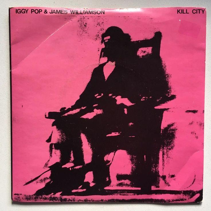 """IGGY POP JAMES WILLIAMSON Kill City 7"""" 1978 Radar w/pic sleeve STOOGES #PunkNewWaveRocknRoll"""
