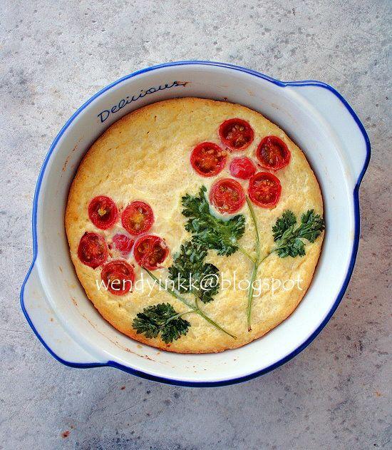 Da's nog eens leuk voor een hartige taart. Bloem van tomaatjes en peterselie