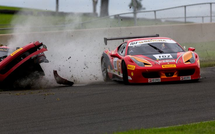 Ferrari Crash by Josh Pang on 500px