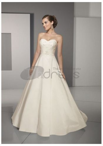 Luxury A-Line Strapless Wedding Dresses 2014,
