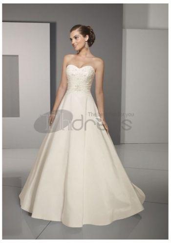 Luxury A-Line Strapless Wedding Dresses 2014,