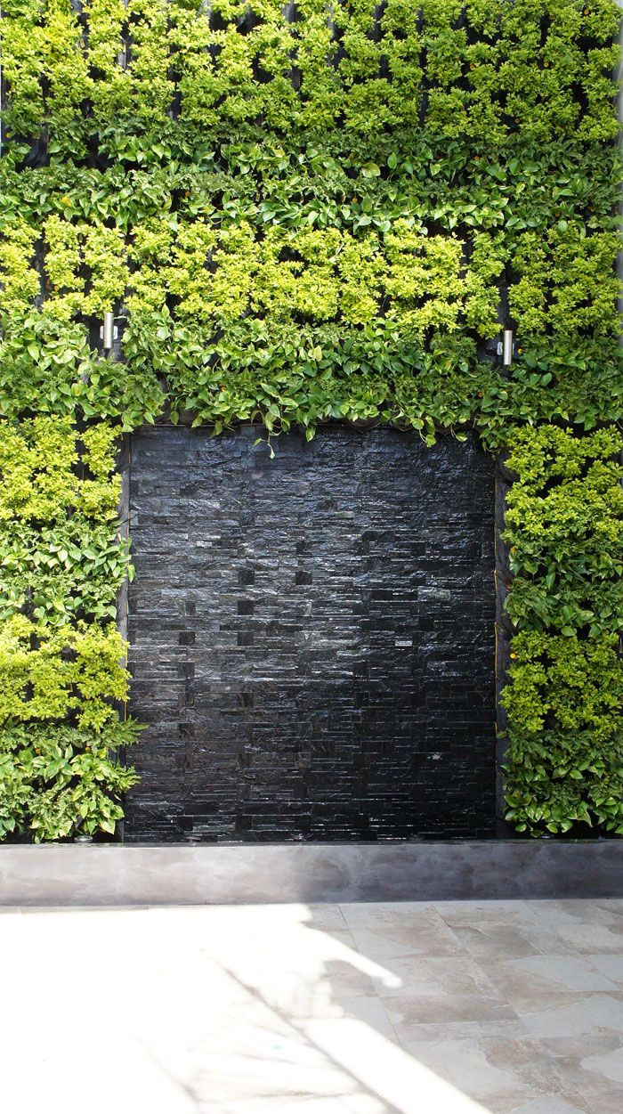 Huge Vertical Garden With Water Feature In The Centreu2026 Awesome Design