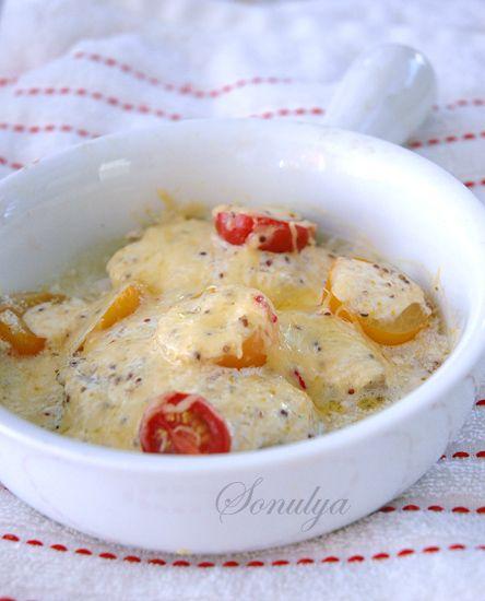 Рыбное филе с сыром и помидорами
