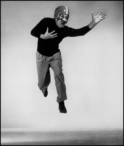 """Jacques Tati From """"Philippe Halsman's Jump Book"""" (1959) — reissued by Abrams (1986). ."""