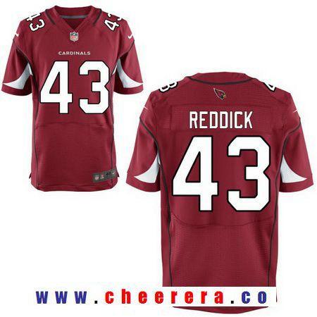 Men's 2017 NFL Draft Arizona Cardinals #43 Haason Reddick Red Team Color Stitched NFL Nike Elite Jersey