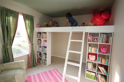 I was thinking bunkbeds but a LOFT! What a dream.