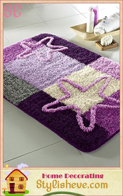 Purple Bathroom Rug Set Tapetes De Pano Tran 231 Ado
