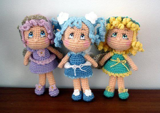 free pattern, amigurumi fairy dolls