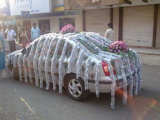Again No Flowers But Too Funny Wedding Car DecorationsWedding