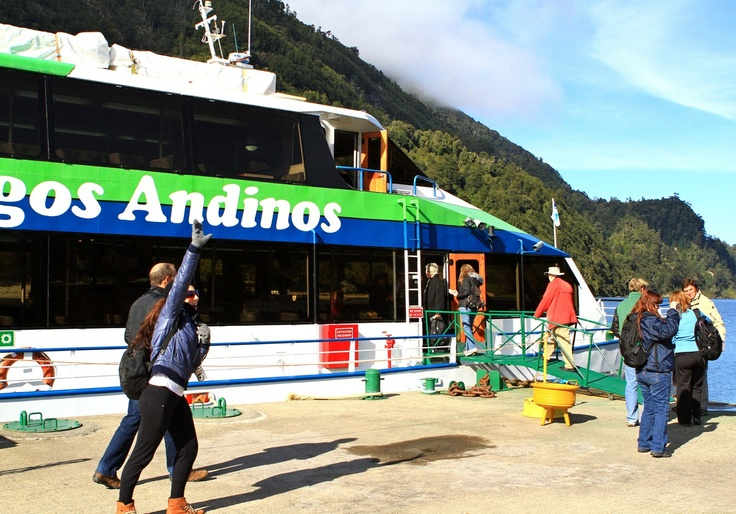 The Group ready to board the Lagos Andinos. Photo by Cruce Andino.  Booking: www.visitchile.cl
