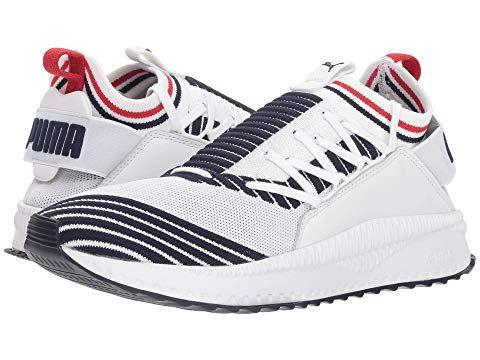 PUMA Tsugi Jun Sport Stripes, PUMA WHITEPEACOATRIBBON RED