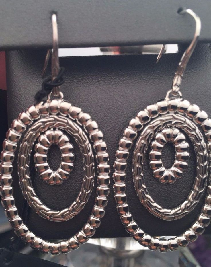John Hardy Earrings Classic Chain Sterling Silver Large Drop/Dangle NWT $495.00 #JohnHardy #DropDangle