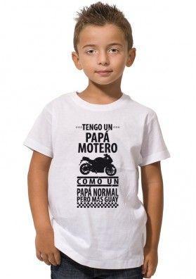 Camiseta Tengo Papá Motero