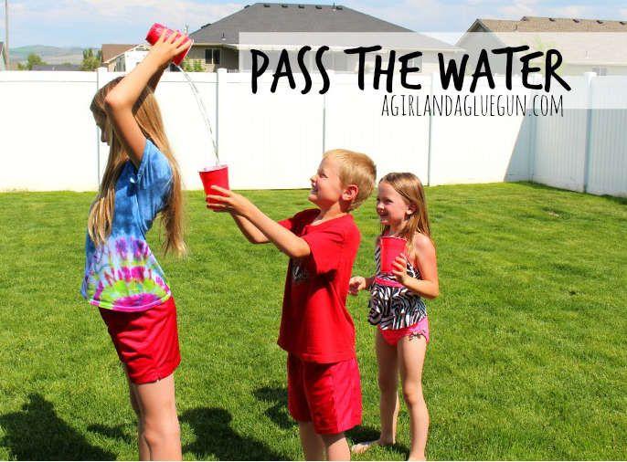 Jeux avec des verres d'eau