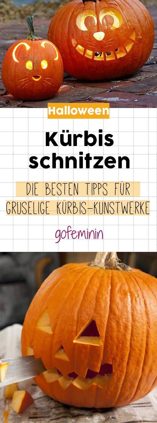 An Halloween dürfen gruselig Kürbisgesichter nicht fehlen! Wir zeigen dir, wie einfach Kürbis schnitzen ist.