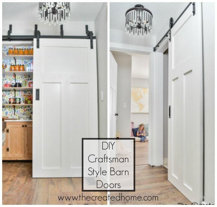 Diy Craftsman Style Barn Doors The Created Home Diy Door Interior Barn Doors Barn Door