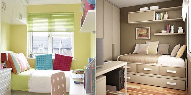 Decorate a very small single room architecture interior for Very small apartment interior design