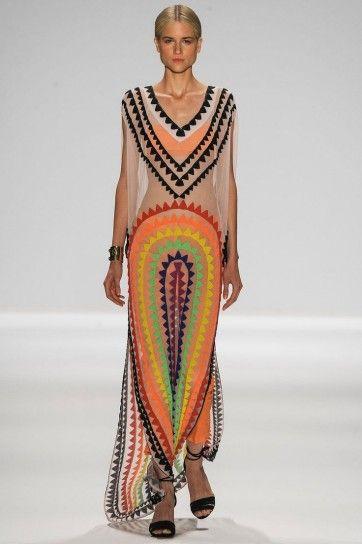 Mara Hoffman abito geometrico colorato
