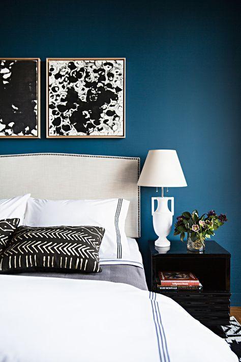 chambre bleu canard avec quelle couleur accords classe et ides dco - Chambre Bleu Canard