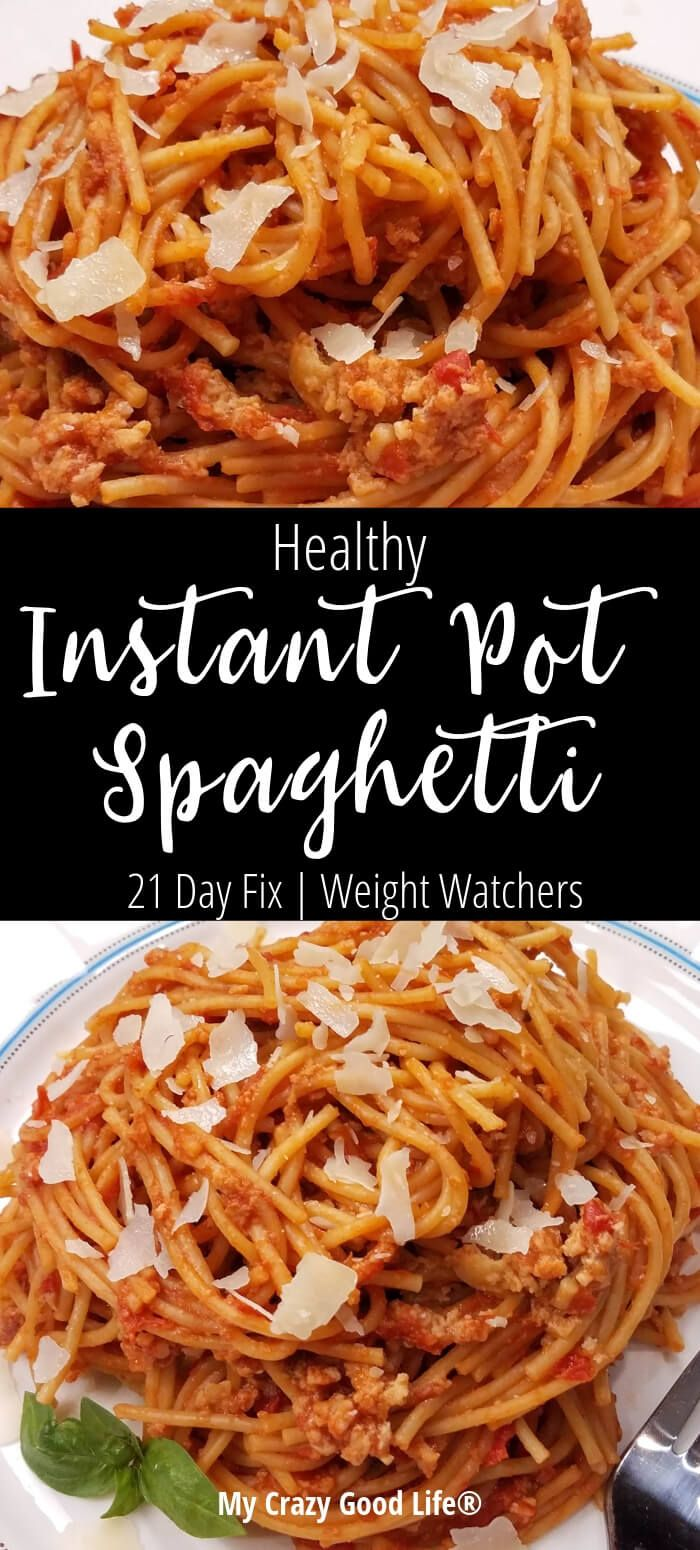 This healthy Instant Pot Spaghetti is a quick weeknight meal! Whole grain pasta …