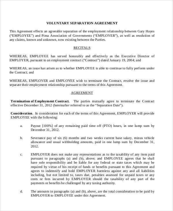 Employment Separation Agreement Template 9 Advice That You Must Listen Before Embarking On E Separation Agreement Template Separation Agreement Templates