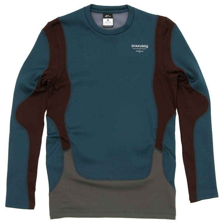 Nike x Undercover GYAKUSOU AS UC Thermal Top (Midnight Turquoise & Deep Burgundy), 08-01-2013, endclothing.com