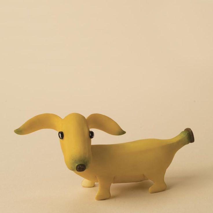 Banana dachshund - healthy food fun for kids | toy & game. Spielzeug & Spiele . jouet & jeux | @ grandmas giftware |