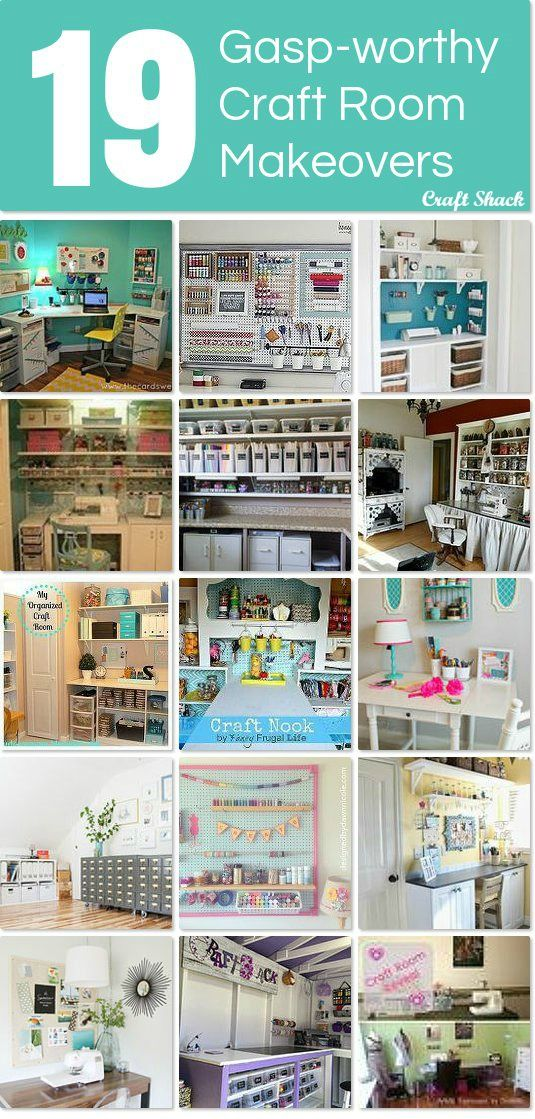 19 gasp-worthy craft room makeovers ~ I want them all!