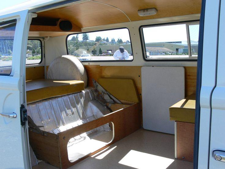 Vanlife Vw Bus Interior Rockbed Kombi Motorhome