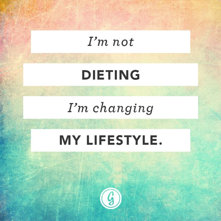 The only true way to change your body. To keep the body, keep the lifestyle. If you always start and stop you're not going to get where you want to go!
