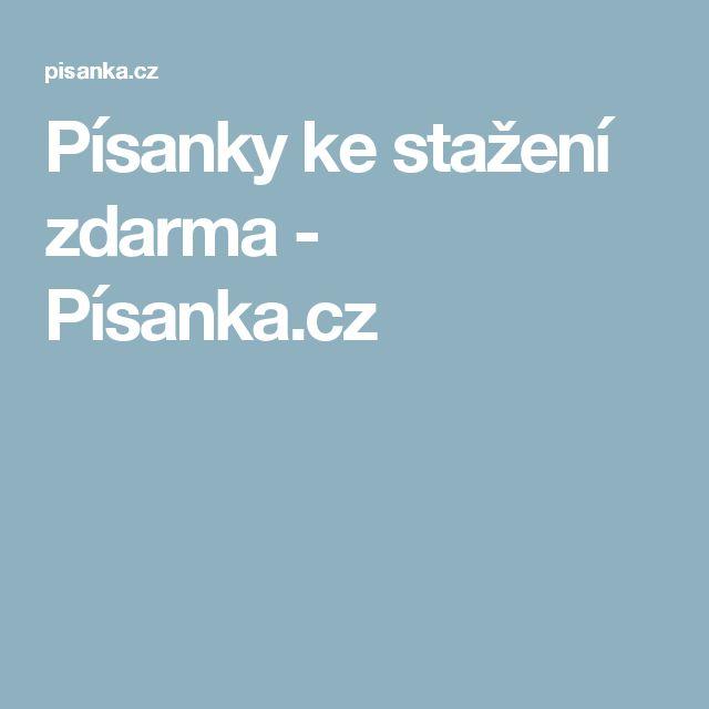 Písanky ke stažení zdarma - Písanka.cz