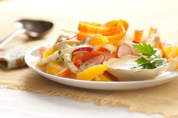 Ensalada de zanahoria, hinojo, naranja y rabanitos - Maru Botana