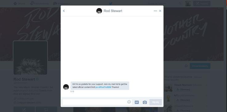 Who knows the person who wrote to me on Twitter? Kto zna osobę która do mnie napisała na Twitter ?  #RobStewart  #stewart