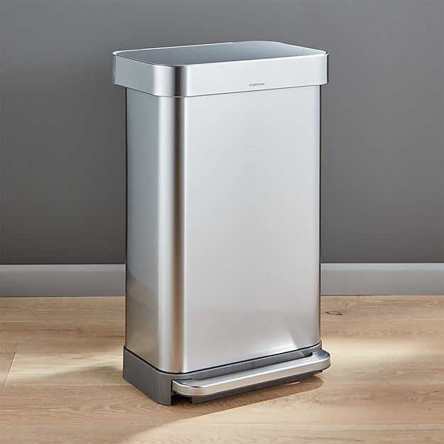 Simplehuman 45 Liter 12 Gallon Stainless Steel Step Kitchen Trash Can Reviews Crate And Barrel Kitchen Trash Cans Trash Can Simplehuman #trash #can #for #living #room