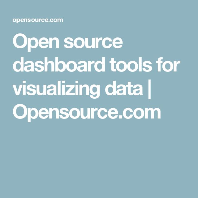 Open source dashboard tools for visualizing data | Opensource.com