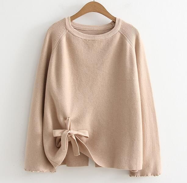BOW TIE KNITTED SWEATER