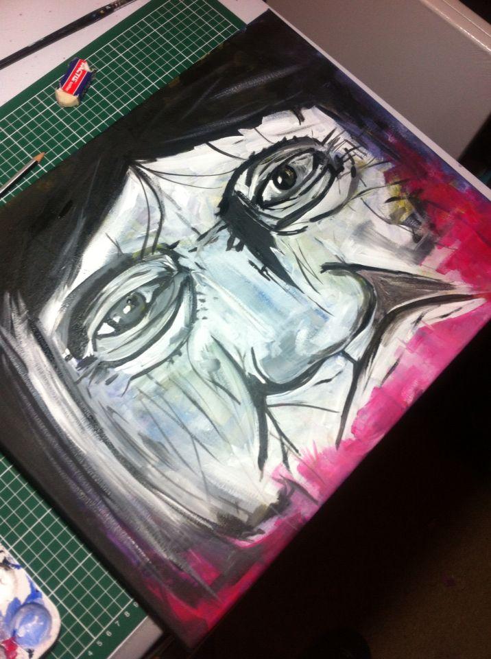 Mujer selknam #pintura #magallanes