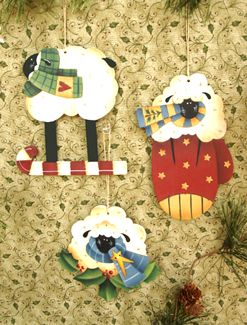 Warm & Wooly Ornaments (#310)