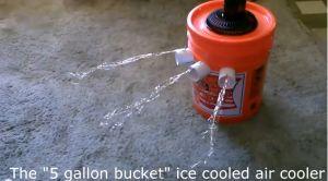The Homestead Survival | 5 Gallon Bucket Air Conditioner DIY Project |  Homesteading & Hot Summer