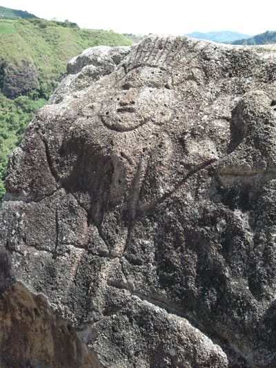 La Chaquira carvings, Colombia