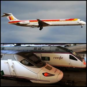 Train or plane from Madrid to Barcelona - Image: Aero Icarus and Damian Corrigan/Creative Commons (Some Rights Reserved)