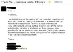 thank you email for second interview