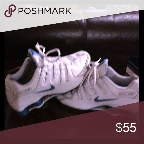 Nike shox Blue n white nike shox Shoes Athletic Shoes