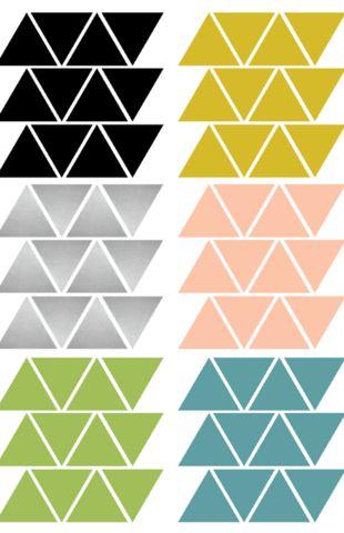 triangle wall stickers multicoloured